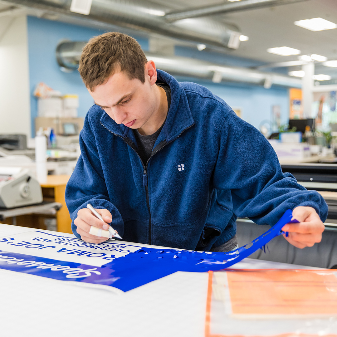Custom cut signs, decals and stickers by Alphagraphics Portsmouth
