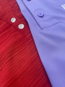 Sample of different colored fabric apparel for your business