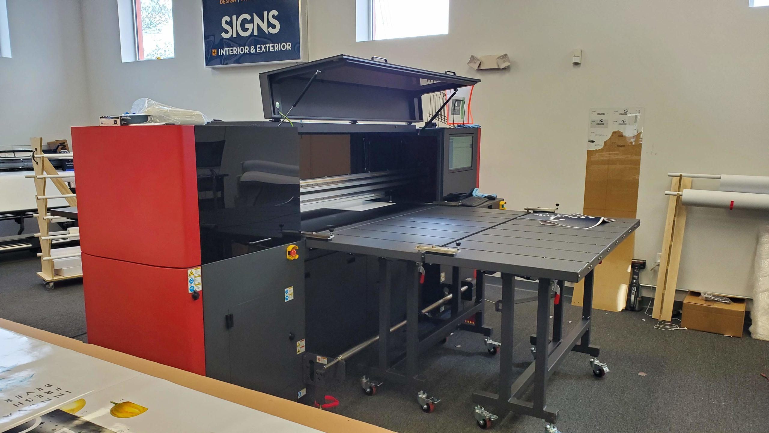 AlphaGraphics Portsmouth purchased an EFI Pro 16h UV LED wide format printer to bolster the services that the premier marketing and printing shop offers